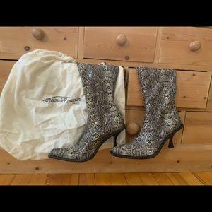 Stephane de Raucourt Snakeskin boots